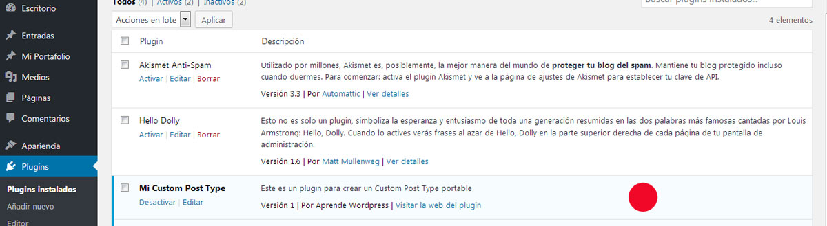 Crear custom post type