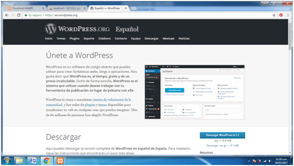 Instalar WordPress-Descargar WordPress
