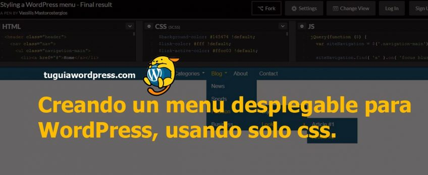 ▷ Como crear un menu desplegable en Wordpress en el 2018.