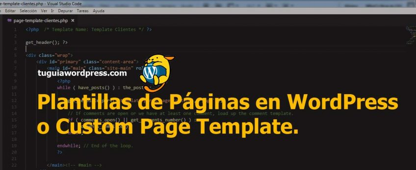 plantillas de paginas -WordPress