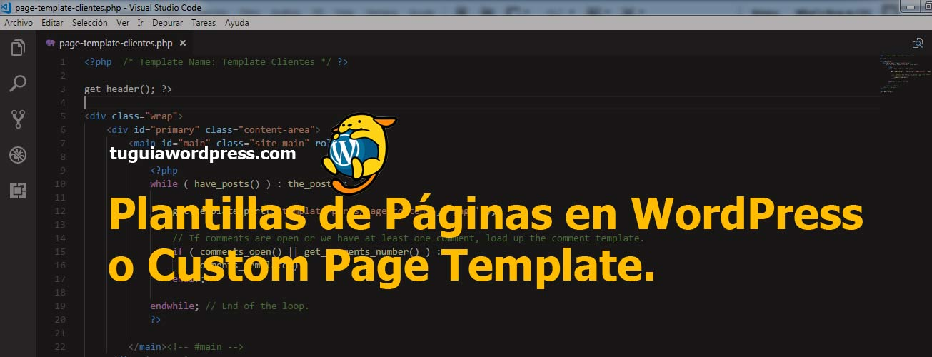 Plantillas de Paginas en WordPress - Tu Guia WordPress