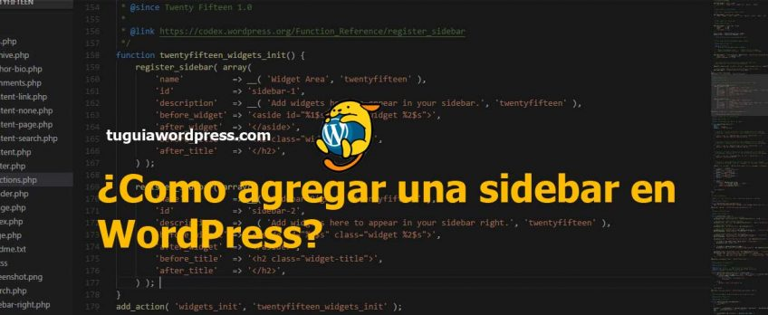 Como agregar una sidebar en WordPress? - Tu Guia WordPress